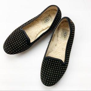 UGG Australia Alloway Studded Suede Loafer Black 7